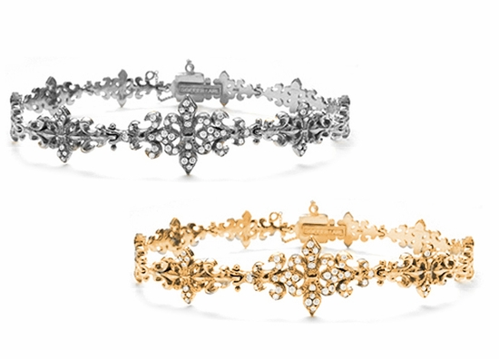 Trinity Fleur Bracelets in White and Yellow Gold