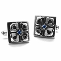 Mobsilver Manassas Style E.C. Cufflinks with Sapphires