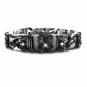 Perfect Collateral N.C. Cross Bracelet with White and Black Diamonds