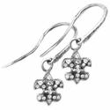 Pave Fleur Dangle Earrings