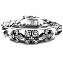 Tawdry Fleur E.C. Heavy Bracelet Silver with Diamonds