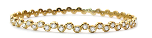 Kay Bangle 18K Gold with Diamonds