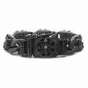 Perfect Collateral O.G. & N.C. Cross Bracelet with Black Diamonds
