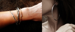 Trafficante Bangles with Pave Diamonds