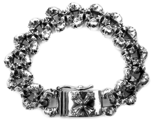Chris James Catacomb Skulls N.C. Bracelet