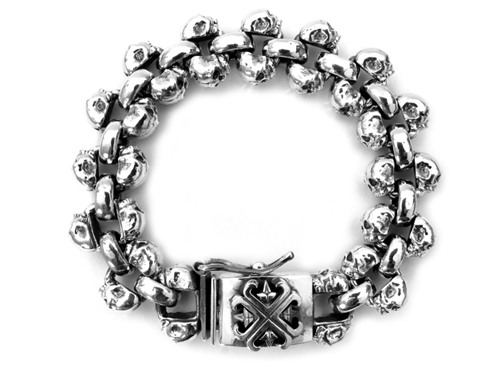 Chris James Catacomb Skulls Bracelet