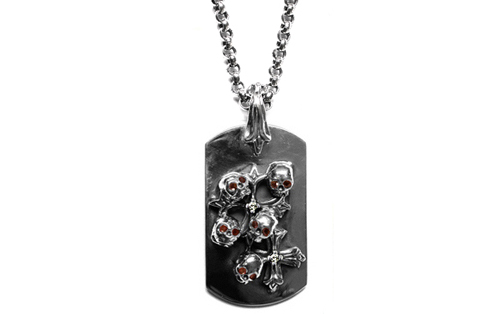 Large Dog Tag Skulls & N.C. Crosses Rubies & Diamonds