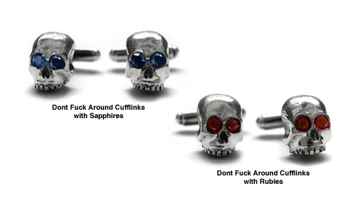 Dont Fuck Around Cufflinks with Stones