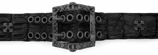 Gunsels Buckle with Black Diamonds