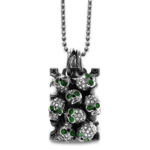 Ivy Mike Catacomb Dog Tags with Diamonds