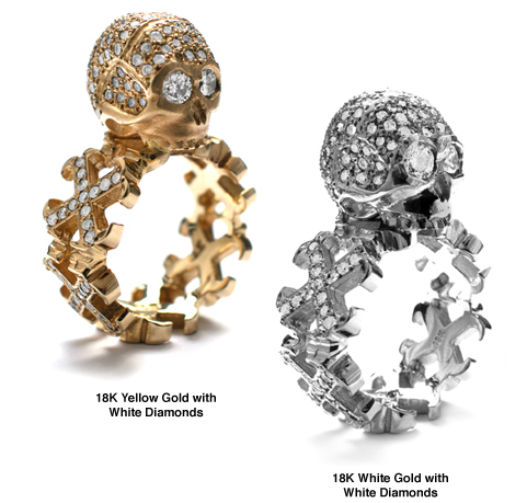 Dainty O.G. Cross Borderless Envelop Rings Dont Fuck Around Skull Pave Diamonds