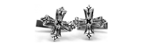 Medium N.C. Badge Cufflinks Silver