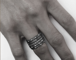 Kamilot Stack Rings with Diamonds