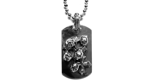 Large Dog Tag Skulls & N.C. Crosses