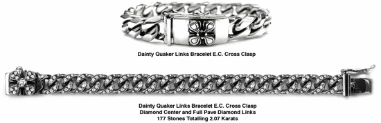Dainty Quaker Links Bracelet