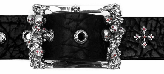 Catacomb Buckle Silver with Rubie Eyes