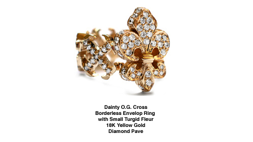 Dainty O.G. Fleur Rings in 18K White & Yellow Gold