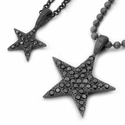 Star Pave Black Diamond Pendants