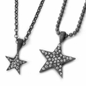 Star Pave Diamond Pendants