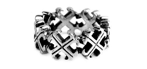 Silver Medium O.G. Cross Borderless Envelop Ring