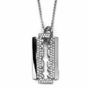 Razor Blade Pendant 18K White Gold with Diamonds