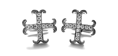 Large O.G. Badge 13 Diamonds Cufflinks