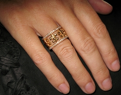 Fleur Envelop Rings Silver and Gold