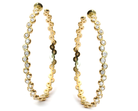 Kay Earrings 18K Gold with Diamonds