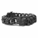 Don't Fuck Around Bracelet with Full Pave Black Diamond Links