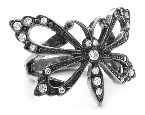 Papillion Ring with Diamonds