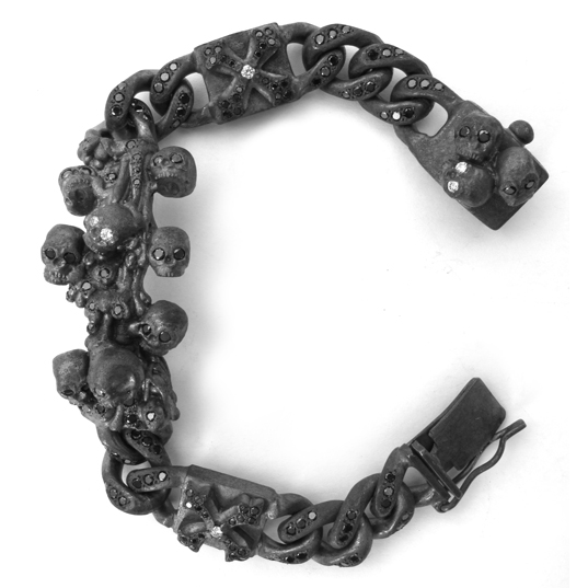 Collateral Skulls Catacomb Bracelet Black Diamonds