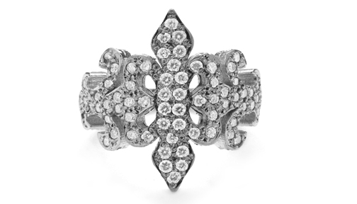 Trinity Tawdry Fleur Band with Diamonds