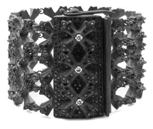 Trinity Werth N.C. Favela Links Bracelet with Diamonds