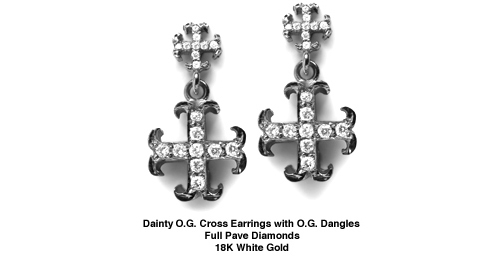 Dainty O.G. Cross Earrings