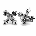 Large N.C. Badge Cufflinks Silver