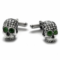 Dont Fuck Around Cufflinks with Diamonds and Emerald Eyes