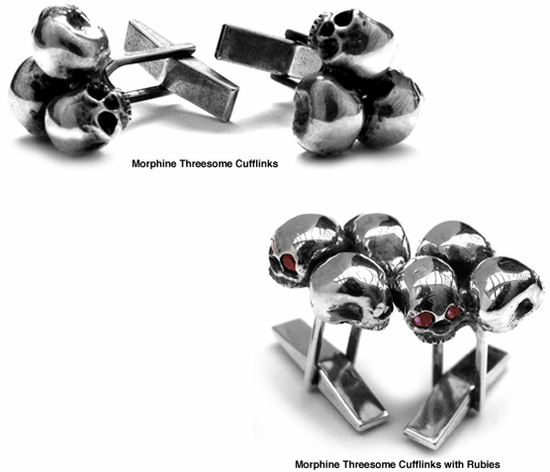 Morphine Threesome Cufflinks