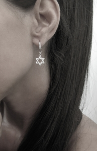 Dainty J Star Earrings