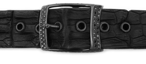 Noble Machined Buckle Pave Black Diamonds