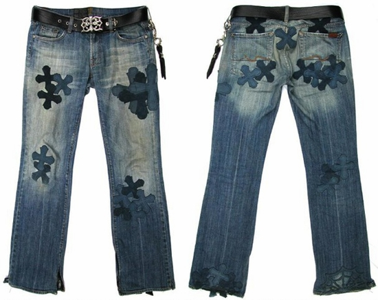 Patched Denim L.C. Crosses