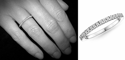 Band of Ones Eternity Band 18K White Gold