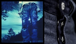 Patched Denim Heavy L.C. Crosses