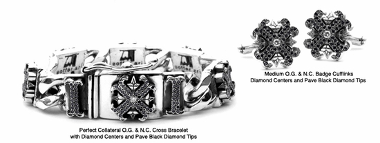 Perfect Collateral O.G. & N.C. Cross Bracelet with Diamonds