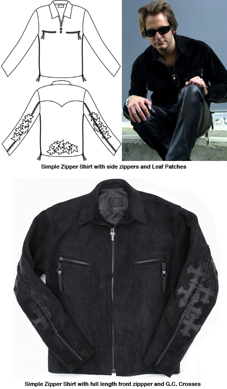 Simple Zipper Shirts