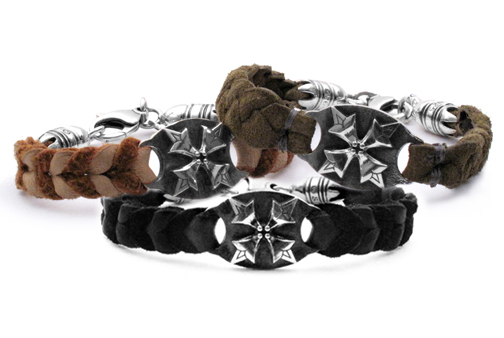 Braided Leather Memento Mori Bracelets