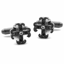Small O.G. Badge Cufflinks Black Diamonds