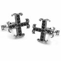 Large O.G. Badge 13 Black Diamonds Cufflinks