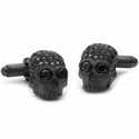 Don't Fuck Around Cufflinks Pave Black Diamonds