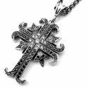 Medium O.G. & N.C. True Cross Pendant Pave Black Diamonds