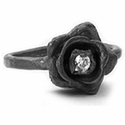 Rose Ring with a Lonely Diamond